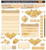 Jogo real dos elementos creativos do Web Fotografia de Stock Royalty Free