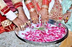 Jogo real indiano do casamento foto de stock royalty free