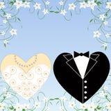 Jogo romântico do casamento Fotografia de Stock
