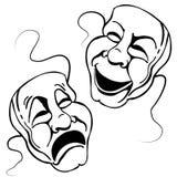 Jogo romano da máscara do teatro ilustração do vetor