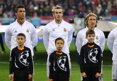 Jogo Shakhtar da liga de campeões de UEFA contra o Real Madrid foto de stock