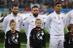 Jogo Shakhtar da liga de campeões de UEFA contra o Real Madrid fotos de stock royalty free