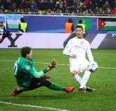 Jogo Shakhtar da liga de campeões de UEFA contra o Real Madrid Fotos de Stock