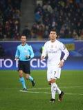 Jogo Shakhtar da liga de campeões de UEFA contra o Real Madrid Fotografia de Stock Royalty Free