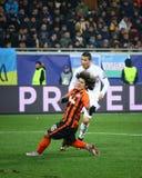 Jogo Shakhtar da liga de campeões de UEFA contra o Real Madrid Imagem de Stock Royalty Free