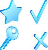 Jogo simples do ícone. Imagem de Stock Royalty Free