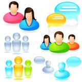 Jogo social do ícone dos media ilustração stock