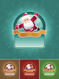 Jogo super da bandeira de Santa. Fotos de Stock