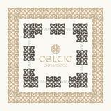 Jogo trançado do ornamento da beira do quadro do nó celta Imagem de Stock Royalty Free