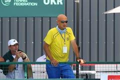 Jogo Ucrânia v Áustria do tênis de Davis Cup Foto de Stock