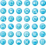 Jogo universal do ícone Fotografia de Stock