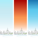 Jogo vertical da bandeira de Chicago Fotografia de Stock