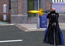 jogo video violento Imagens de Stock Royalty Free