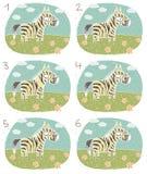 Jogo do Visual da zebra ilustração stock
