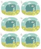 Jogo do Visual do elefante Fotografia de Stock