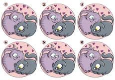 Jogo do Visual do Fósforo-Acima dos gatos do amor ilustração royalty free
