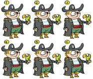 Jogo do Visual do Fósforo-acima dos piratas ilustração do vetor