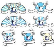 Jogo voado da bolsa ilustração stock