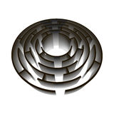 Jogo volumétrico circular do enigma 3d do labirinto Imagem de Stock Royalty Free