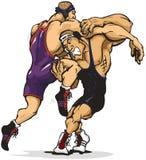 Jogo Wrestling. Imagens de Stock