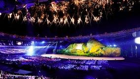 Jogos Asiáticos da cerimônia de inauguração imagem de stock royalty free