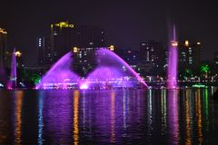Jogos da água na cidade de Yangjiang fotos de stock royalty free