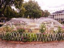 Jogos da água no parque de Tivoli foto de stock