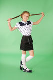 Jogos da menina da escola com cabelo entrançado Imagem de Stock