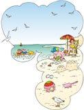 Jogos da praia ilustração do vetor