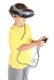 Jogos da realidade virtual Foto de Stock Royalty Free