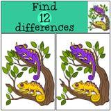 Jogos das crianças: Diferenças do achado Fotografia de Stock Royalty Free