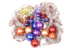 Jogos das esferas do Natal Fotografia de Stock Royalty Free