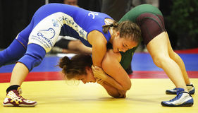 Jogos de Canadá que atracam-se mulheres Imagem de Stock Royalty Free