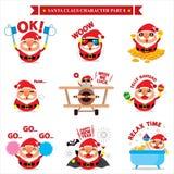 Jogos de caracteres de Santa Claus Imagem de Stock Royalty Free