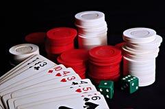 Jogos de cartão foto de stock royalty free