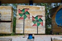 Jogos de madeira do jardim Fotografia de Stock Royalty Free