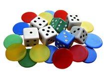 Jogos de mesa Fotos de Stock Royalty Free