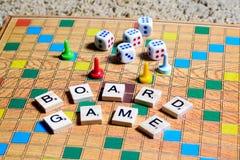 Jogos de mesa Home entertainment, jogos, lona, cubos, cones fotos de stock
