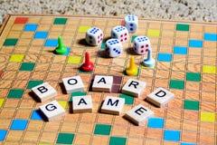 Jogos de mesa Home entertainment, jogos, lona, cubos, cones foto de stock royalty free