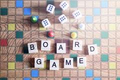 Jogos de mesa Home entertainment, jogos, lona, cubos, cones foto de stock