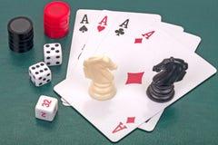 Jogos de mesa principais imagens de stock