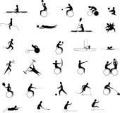 Jogos de Paralympic ajustados Fotografia de Stock