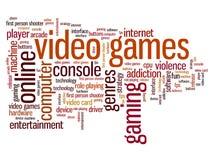 Jogos de vídeo ilustração stock