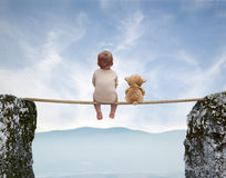 Jogos 6 do bebê Fotografia de Stock Royalty Free