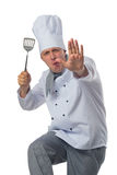 Jogos do cozinheiro no local de trabalho Fotografia de Stock