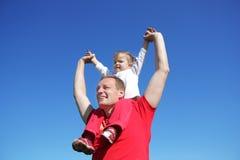 Jogos do pai com filha Imagens de Stock Royalty Free