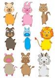 Jogos dos animais Imagens de Stock Royalty Free
