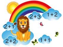 Jogos educacionais para crianças, para o cálculo Imagem de Stock