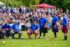 Jogos escoceses das montanhas imagem de stock