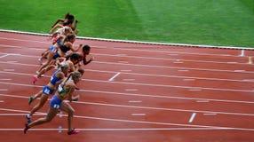 Jogos exteriores internacionais de DecaNation o 13 de setembro de 2015 em Paris, França Fotos de Stock